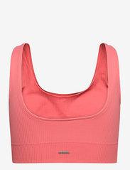 AIM'N - Coral Ribbed Seamless Bra - sport bras: medium support - coral - 2