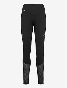 Black statement seamless tights - sportleggings - black