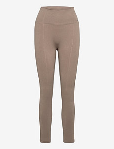 Espresso Luxe Seamless Tights - running & training tights - espresso