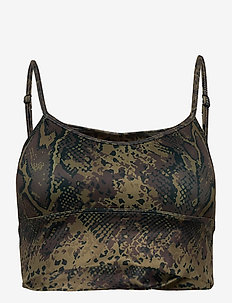 Cobra Logo Strap Bra - sport bras: low - brown