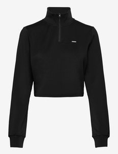 Boost Crop Sweatshirt - sweatshirts - black