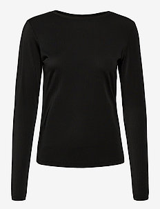 Black Air Long Sleeve - longsleeved tops - black