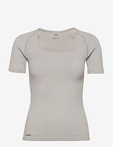 Cloud Ribbed Seamless T-shirt - t-skjorter - cloud
