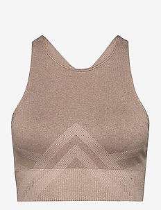 Espresso Fierce Seamless Bra - sort bras:high - espresso