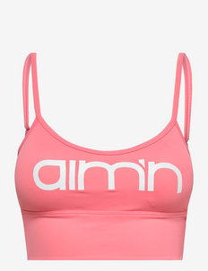 CORAL LOGO STRAP BRA - sport bras: low support - coral