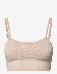 BEIGE LUXE SEAMLESS STRAP BRA - sport bras: low support - beige
