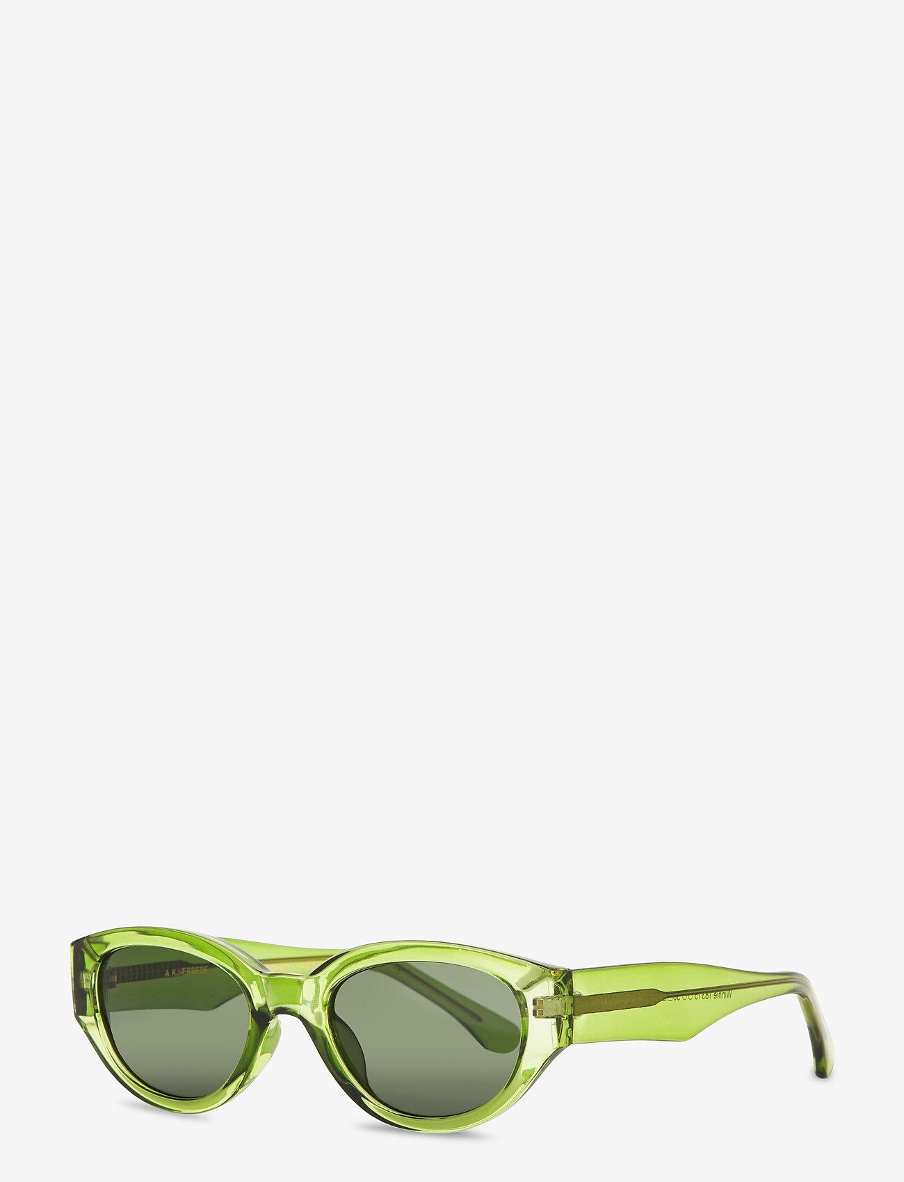 A.Kjærbede - Winnie - d-shaped - light olive transparent - 1
