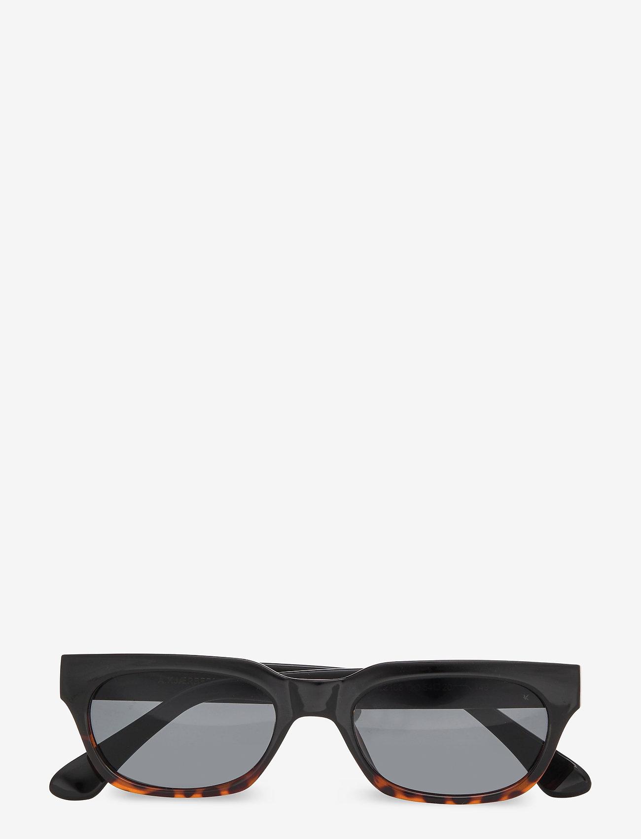 A.Kjærbede - Bror - d-vormige zonnebril - black/demi tortoiose - 1
