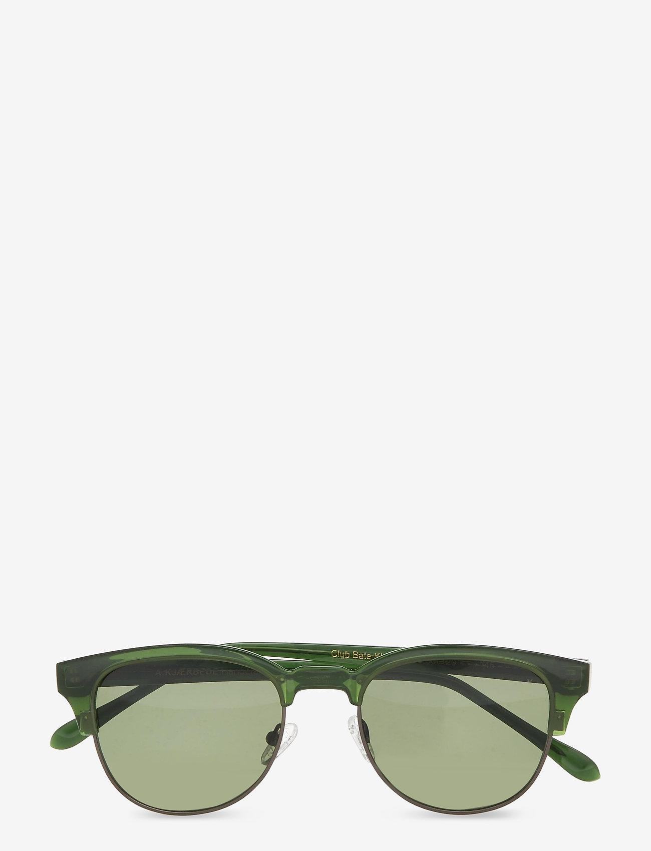 A.Kjærbede - Club Bate - d-vormige zonnebril - olive transparent - 1