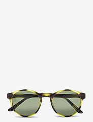 A.Kjærbede - Marvin - ronde zonnebril - demi olive - 1