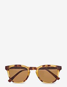 Bate - d-vormige zonnebril - demi light brown tortoise