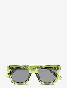 Nancy - d-vormige zonnebril - light olive transparent
