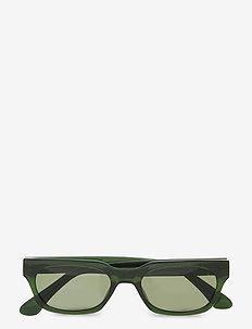 Bror - wayfarer - dark green transparent