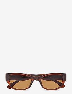 Kanye - d-vormige zonnebril - brown transparent
