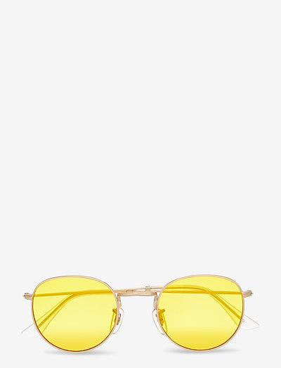 Hello - rund ramme - gold/yellow
