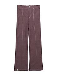 Hecco Box Pants - PLUM WINE