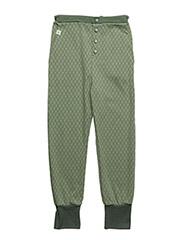 Hai Button Pants - HEDGE GREEN HARLEQUIN