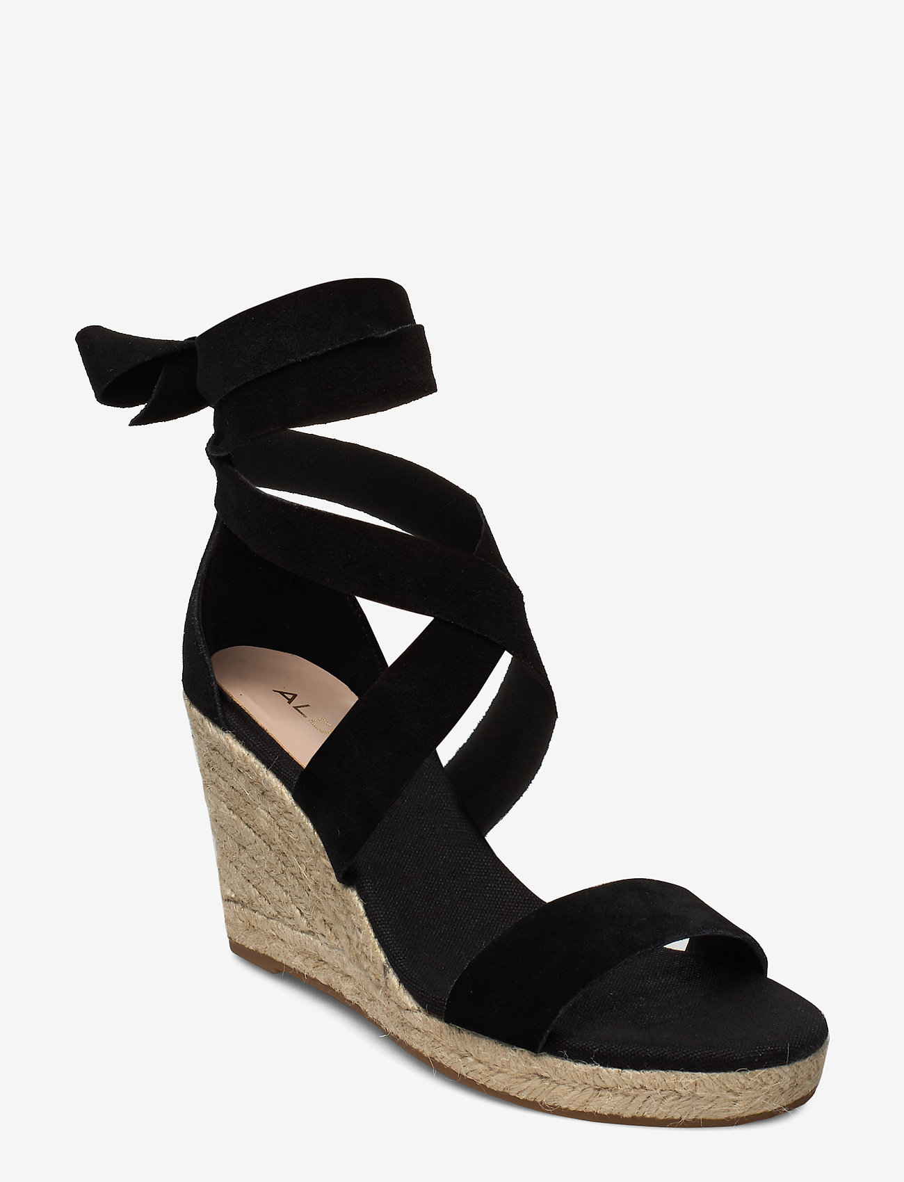 Aldo - LARETTA - espadrilles med hæl - black