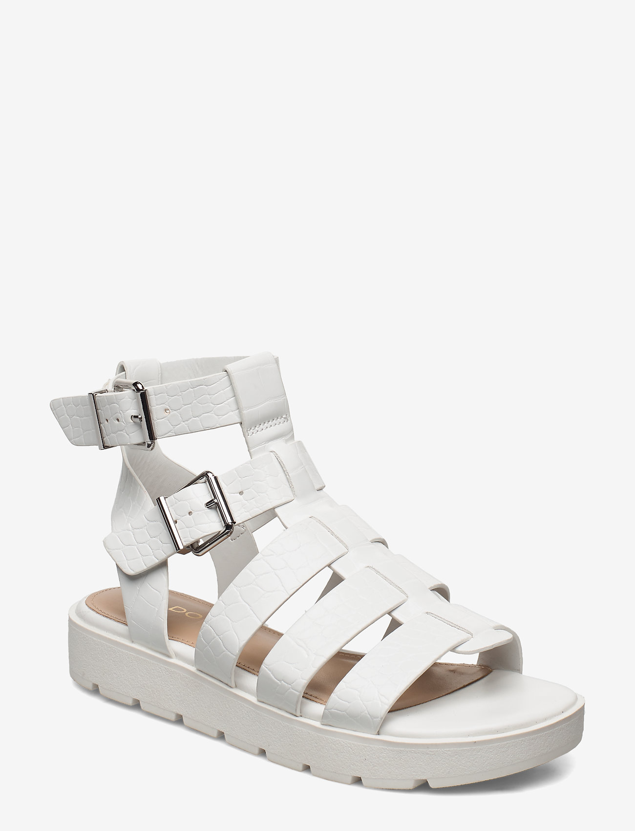 Aldo - GLASSY - flate sandaler - white