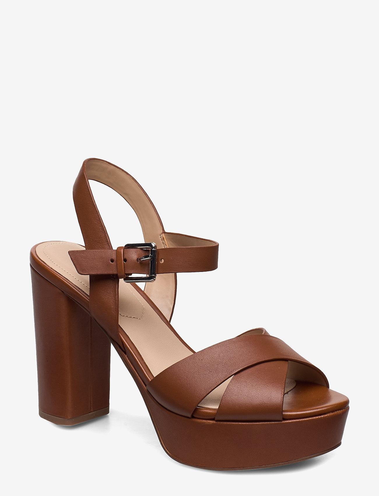 Aldo - PLATINA - høyhælte sandaler - medium brown