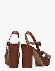 Aldo - PLATINA - høyhælte sandaler - medium brown - 4