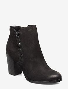 NAEDIA - ankelstøvler med hæl - black