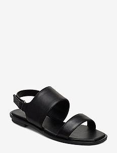 SULA - flate sandaler - black