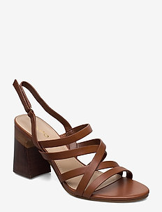 DINDILOA - høyhælte sandaler - cognac