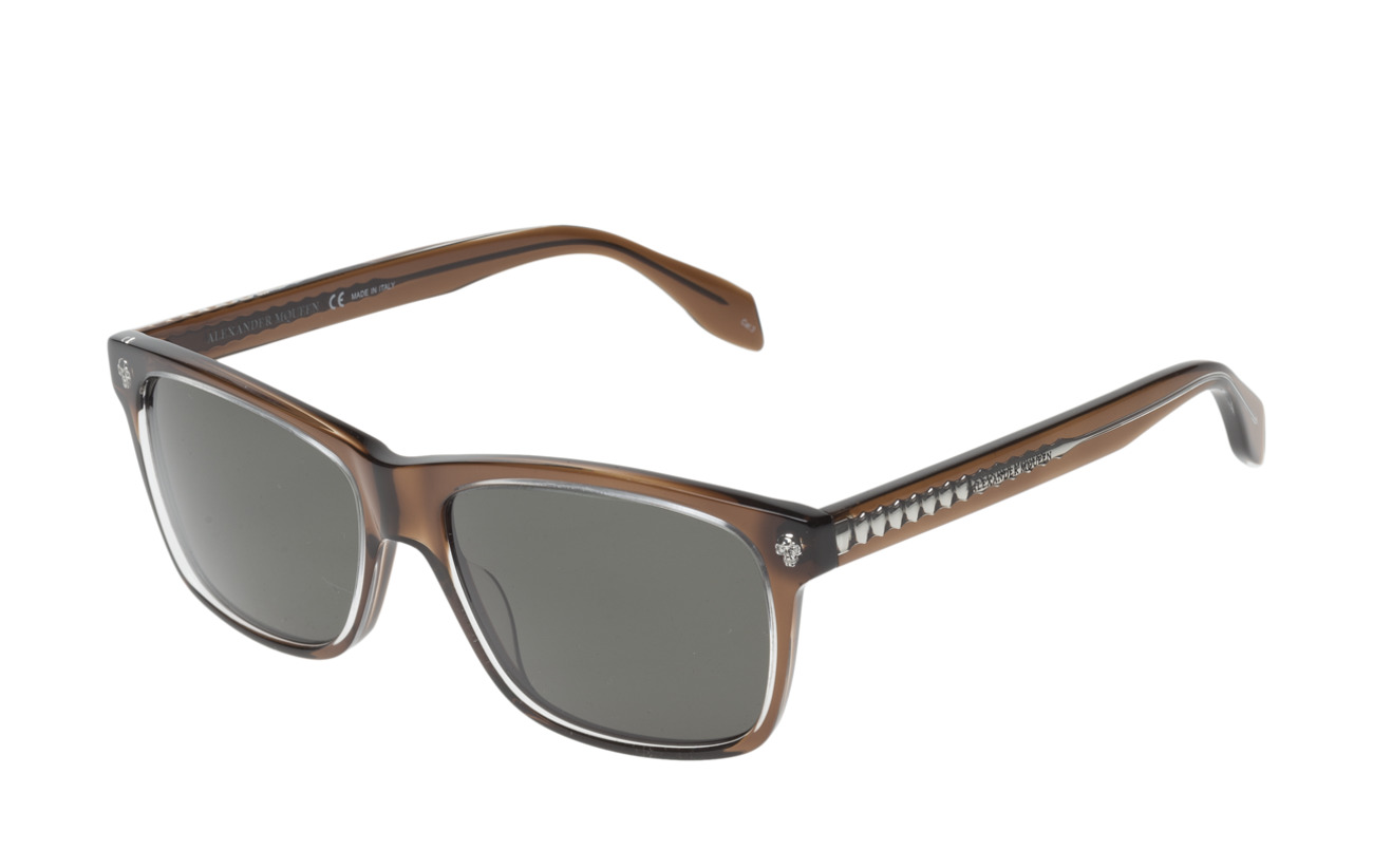 Eyewear Mcqueen brown brown Am0025sbrown greenAlexander Am0025sbrown tCdrshQ