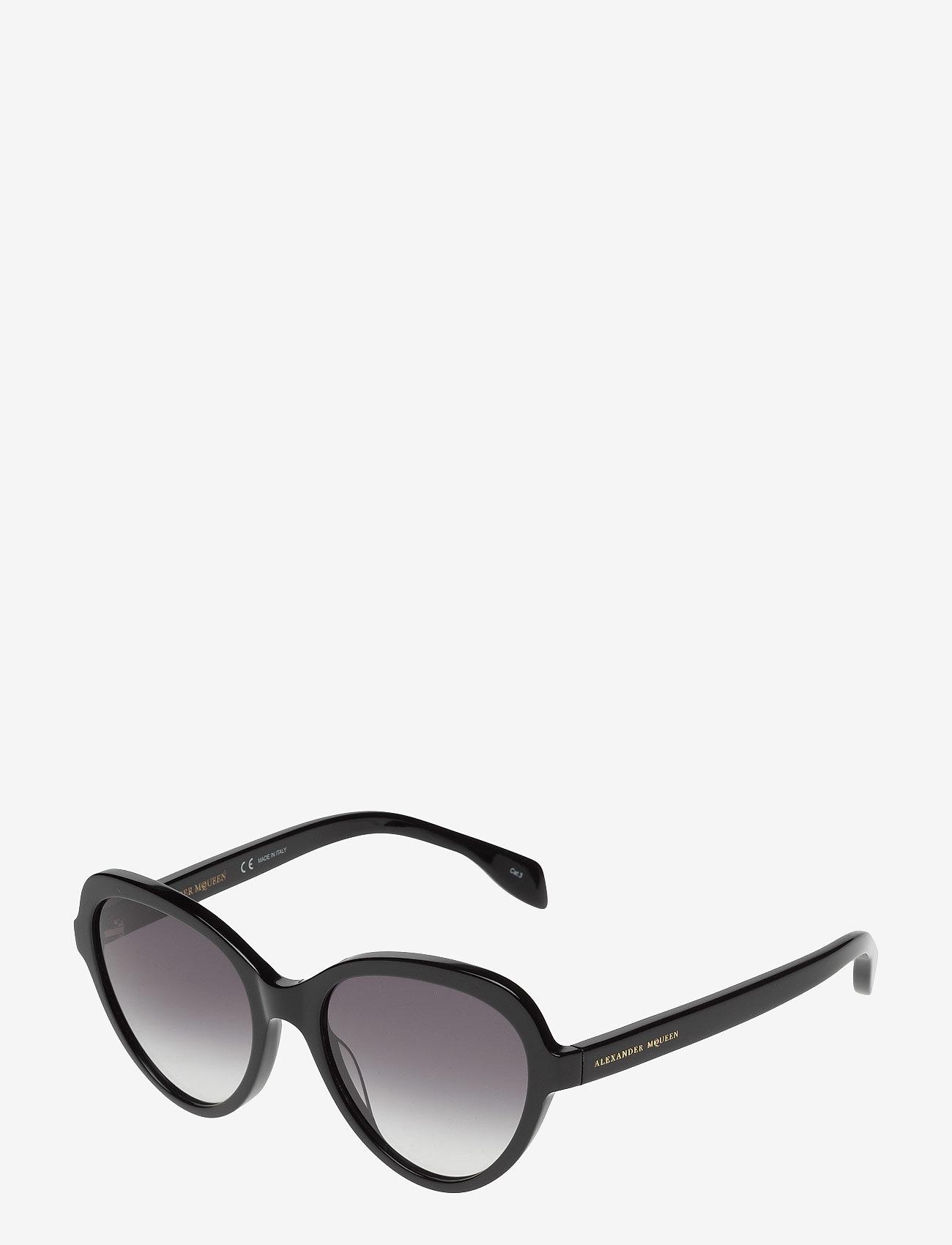 Alexander McQueen Eyewear AM0029S - Okulary przeciwsłoneczne BLACK-BLACK-GREY - Akcesoria