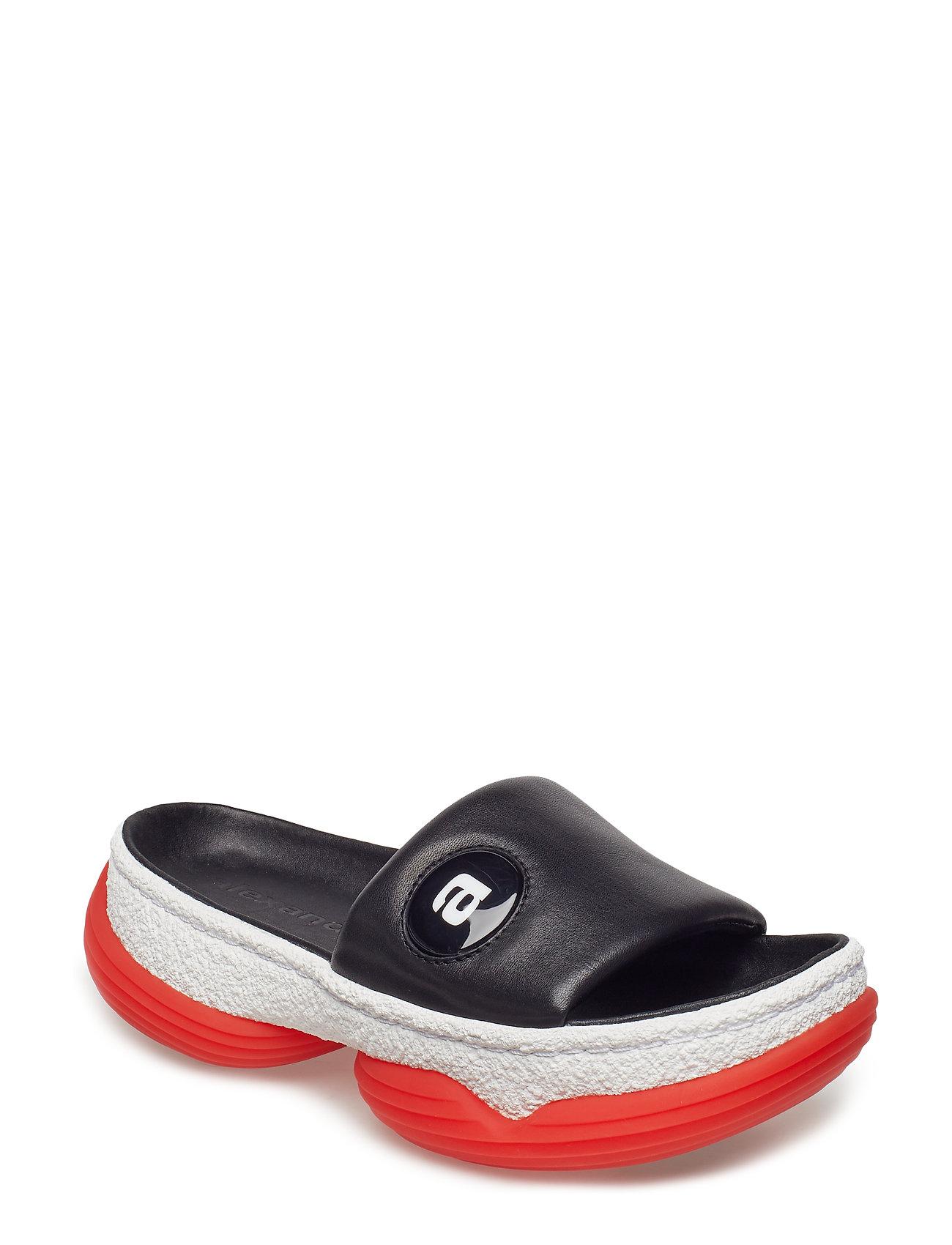 A1 Slide Black Nappa Flade Sandaler Sort ALEXANDER WANG
