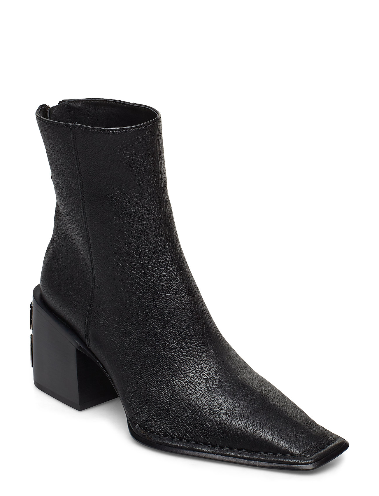 Image of Parker Boot Black Grain Leather Shoes Boots Ankle Boots Ankle Boots With Heel Sort Alexander Wang (3214087587)