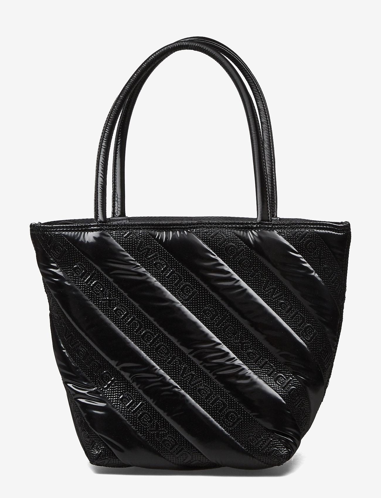 Alexander Wang - ROXY SOFT SMALL TOTE BLACK LOGO QUILTED NYLON - fashion shoppers - black