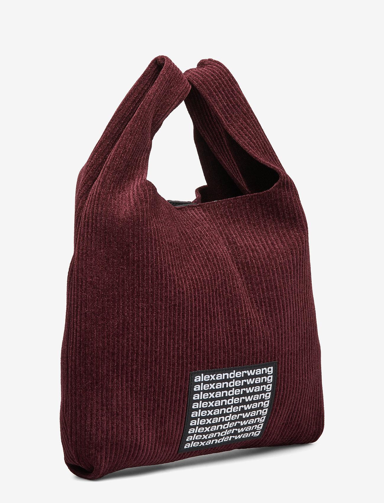 Alexander Wang Knit Medium Shopper Burgundy Chenille - Shoppers
