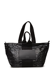 Alexander Wang - Aw Logo Tote Blk Car Crash/Ir