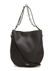 ROXY HOBO BLK REFINED PEBBLE CALF/IR - BLACK