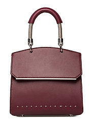 DIME MINI FLAP SATCHEL CRNBRRY REFINED CALF/IR - CRANBERRY