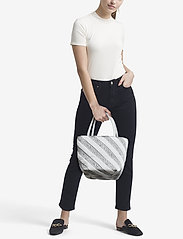 Alexander Wang - ROXY SOFT SMALL TOTE WHITE LOGO QUILTED NYLON - fashion shoppers - white - 1