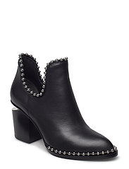 GABI CUT OUT BLACK CALF - BLACK