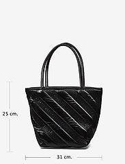 Alexander Wang - ROXY SOFT SMALL TOTE BLACK LOGO QUILTED NYLON - fashion shoppers - black - 7