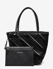 Alexander Wang - ROXY SOFT SMALL TOTE BLACK LOGO QUILTED NYLON - fashion shoppers - black - 8