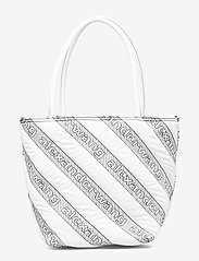Alexander Wang - ROXY SOFT SMALL TOTE WHITE LOGO QUILTED NYLON - fashion shoppers - white - 3