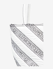 Alexander Wang - ROXY SOFT SMALL TOTE WHITE LOGO QUILTED NYLON - fashion shoppers - white - 5
