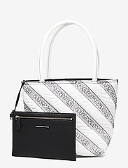 Alexander Wang - ROXY SOFT SMALL TOTE WHITE LOGO QUILTED NYLON - fashion shoppers - white - 7