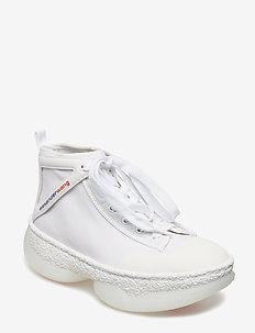 a1 SNEAKER WHITE CALF/MESH - WHITE