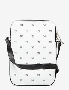SCOUT RECTANGULAR CROSSBODY WHITE W/BLACK GRAINED - BLACK AND WHITE