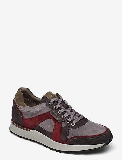 A-Trainer - låga sneakers - grey/burgundy