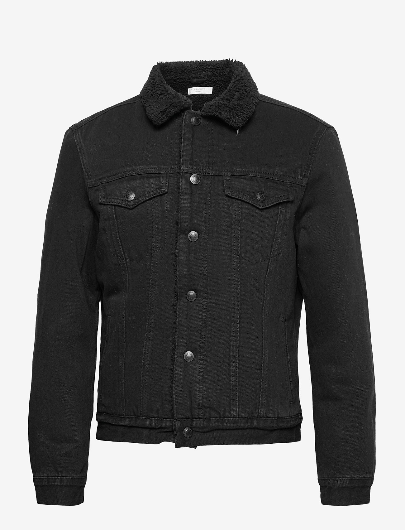 AllSaints - ALDER JACKET - vestes en jean - black - 0