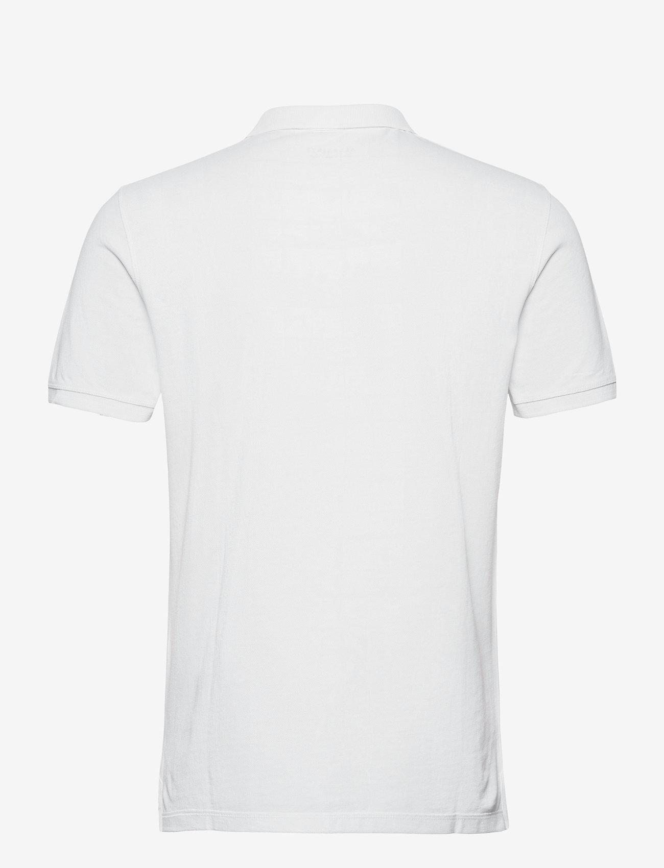 AllSaints REFORM SS POLO - Poloskjorter OPTIC WHITE - Menn Klær