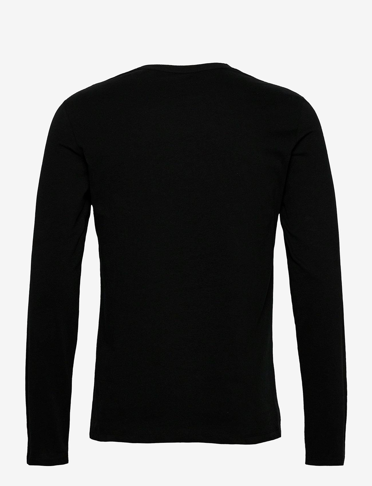 AllSaints BRACE LS TONIC CREW - T-skjorter JET BLACK - Menn Klær